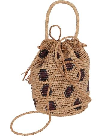 Alanui Brown Raffia Bag