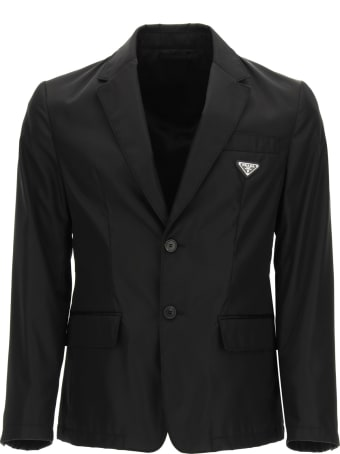 Prada Single-breasted Blazer In Re-nylon