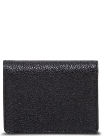 Dolce & Gabbana Sicily Wallet In Black Grained Leather