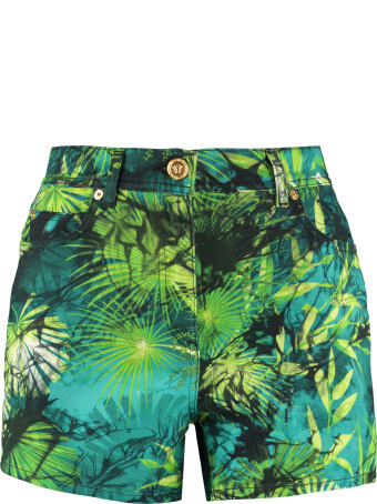 Versace Printed Denim Shorts