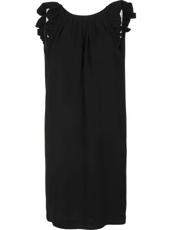 Aspesi Ruffle Sided Sleeveless Dress