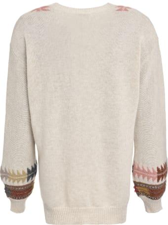 Etro Intarsia V-neck Pullover