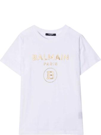 Balmain White T-shirt Teen