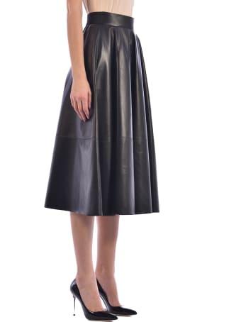 Germans Black Leather Skirt