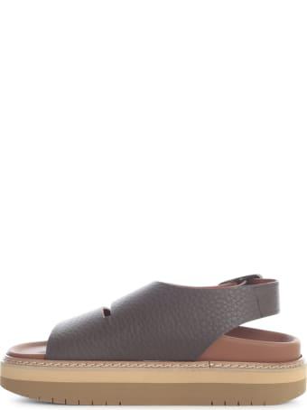 Sofie d'Hoore Platform Leather Sandal W/ankle Strap