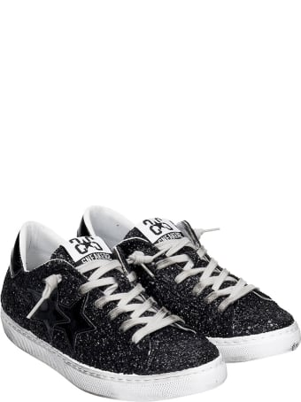 2Star Sneakers In Black Glitter
