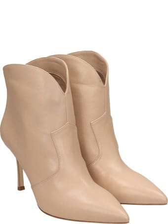 The Seller High Heels Ankle Boots In Powder Leather