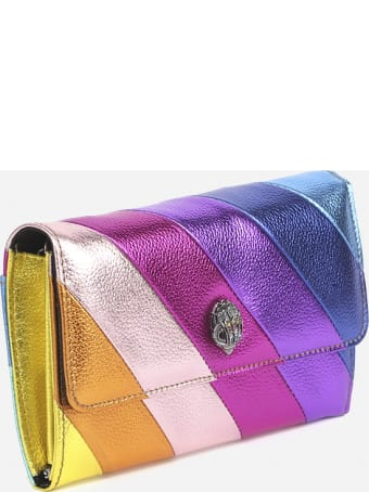 Kurt Geiger Metallic Effect Leather Shoulder Bag