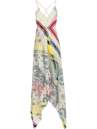 Golden Goose Dress Blancket Thin Strap Silk Fantasy