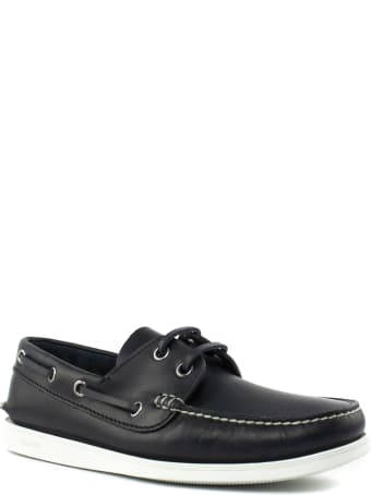 Church's Blue Leather Boat Shoes