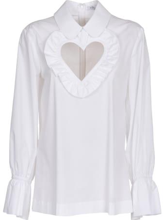 Vivetta White Heart Cut Out Shirt