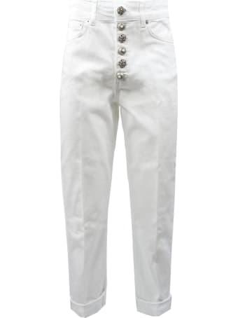 Dondup White Cotton Jeans