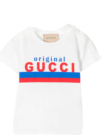 Gucci White Baby T-shirt With Print