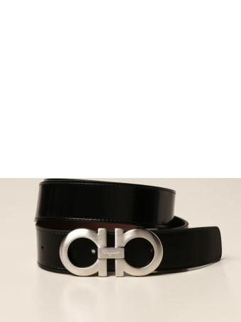 Salvatore Ferragamo Belt Reversible Gancini Salvatore Ferragamo Belt In Leather