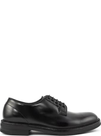 Green George Lace-up In Black Leather