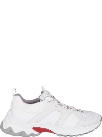 Eleventy White Leather Sneakers