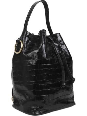 Tara Zadeh Black Croco Lila Bag Maxi