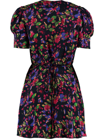 Saloni Lea Floral Wrap-dress