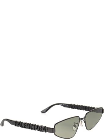 Balenciaga Black Typo Rectangle Sunglasses For Women