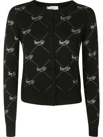 Be Blumarine Motif Detail Buttoned Cardigan