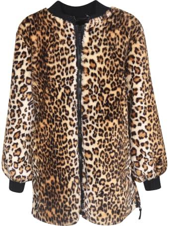 Ermanno Ermanno Scervino Leopard Print Zipped Coat