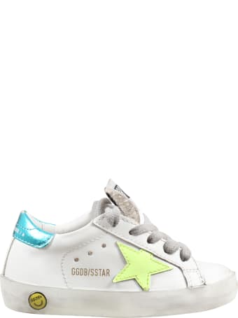 Golden Goose White ''super Star'' Sneakers For Kids