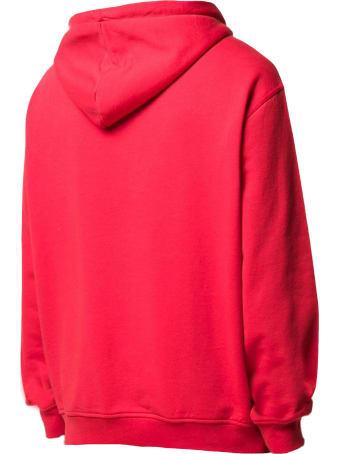 Maison Margiela Red Cotton Hoodie