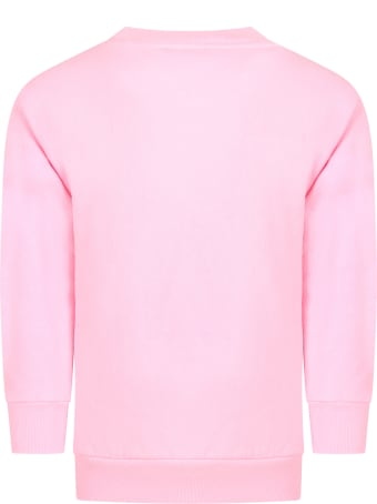 Balenciaga Pink Sweatshirt For Girl With Logo