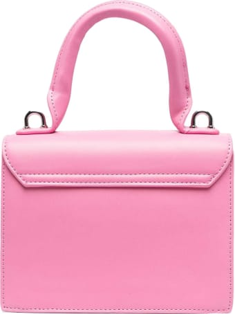 MSGM Pink Shoulder Bag With Application
