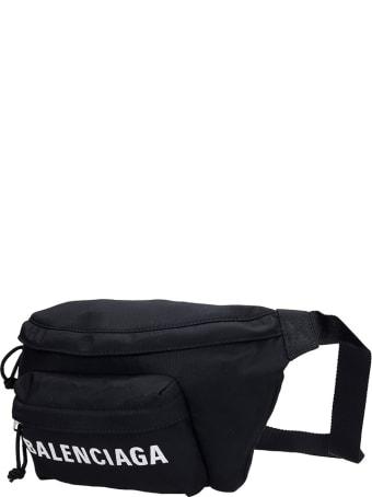 Balenciaga Waist Bag In Black Polyester