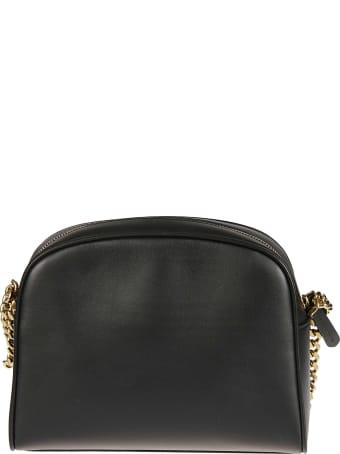 Salvatore Ferragamo Flap Lock Top Zip Shoulder Bag