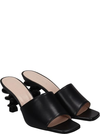 Kalda Nima Sandals In Black Leather