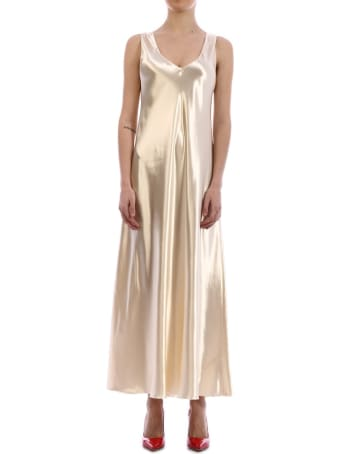 The Row Satin Gala Dress Gold