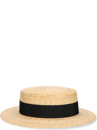 Borsalino The Boater With Woven Straw Hat