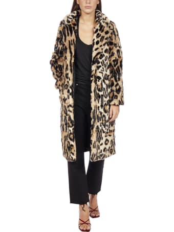 Apparis Karlie Leopard Print Faux Fur Coat