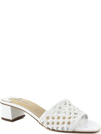 Fabio Rusconi White Leather Sandal