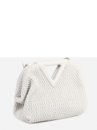 Bottega Veneta Small Point Bag In Quilted-effect Leather