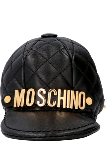 Moschino Leather Keyring With Logo
