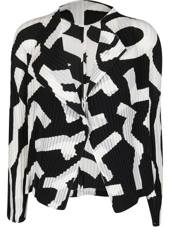 Issey Miyake Black And White Pleated Jacket