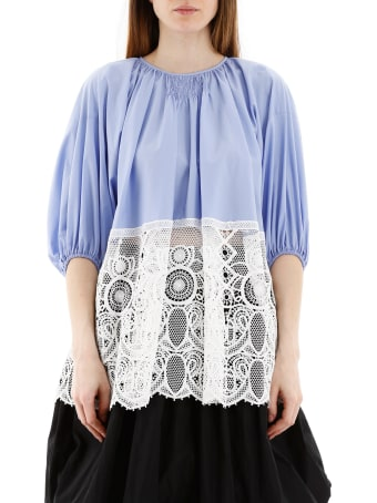 Patou Comunion Blouse With Lace