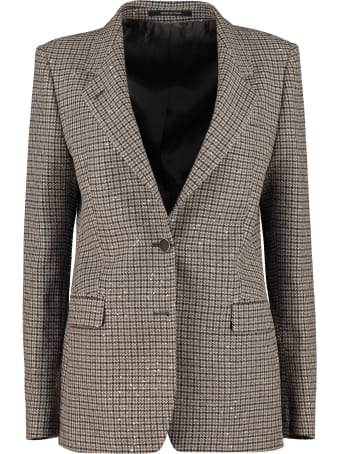Tagliatore 0205 Houndstooth Cotton-blend Blazer
