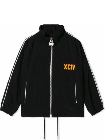 GCDS Black Zipped Bomber Jacket