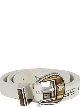 Golden Goose Belt Rodeo Washed Leather Serigraph Belt