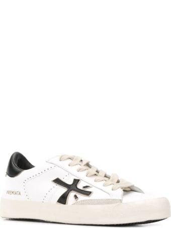 Premiata White Leather Steven Sneakers