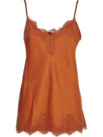 Pink Memories Orange Top With Lace