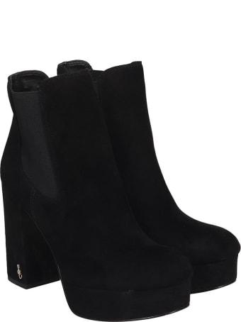 Sam Edelman Abella High Heels Ankle Boots In Black Suede