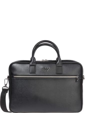 Emporio Armani Pictorial Wings Briefcase