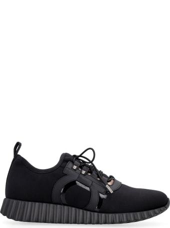 Salvatore Ferragamo Rebekka Leather And Fabric Low-top Sneakers