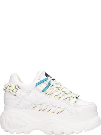 Buffalo 1352 Sneakers In White Leather