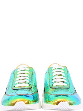 Joshua Sanders Colorful Sneakers For Kids With White Logo